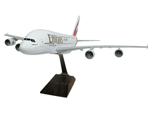 1/100 scale Airbus A380