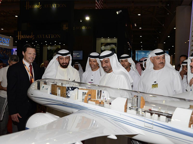Greenpoint's 1/20 scale 787-9 Azure cutaway made its Middle Eastern debut at MEBA 2014. / Photo courtesy of MEBA