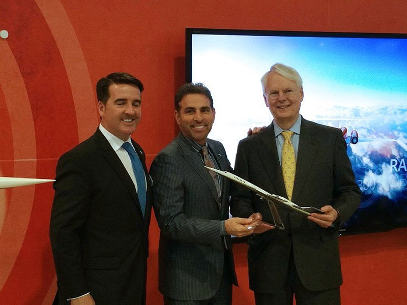 Aerion and Flexjet celebrate order announcement at NBAA 2015