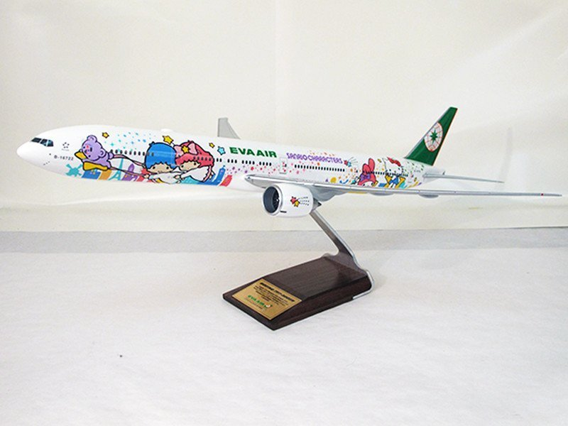 "1/100 scale Boeing 777-300ER in special ""Shining Star"" livery for EVA Air"