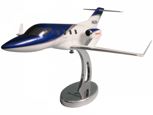 1/32 scale HondaJet desktop model with custom base