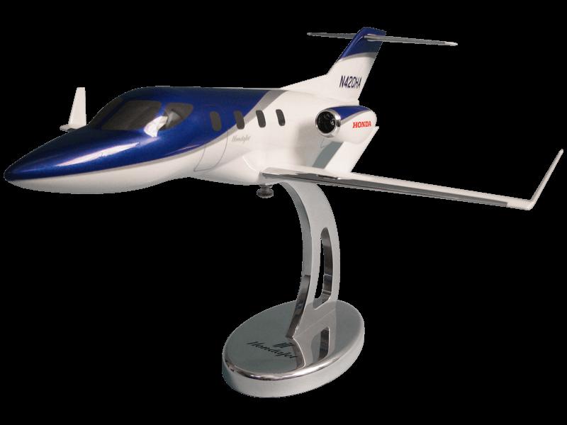 1/32 scale HondaJet desktop model with custom base