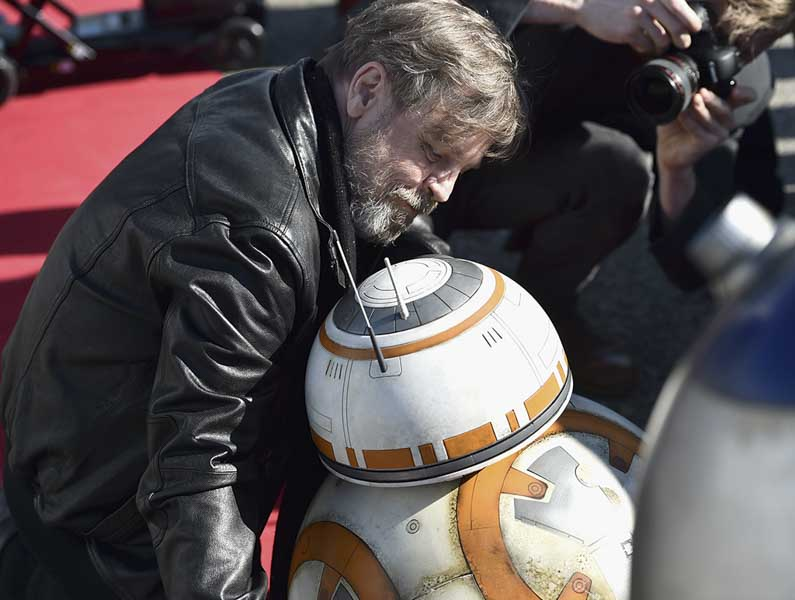 Actor Mark Hamill at the Hollywood World Premiere. // Photo courtesy of All Nippon Airways