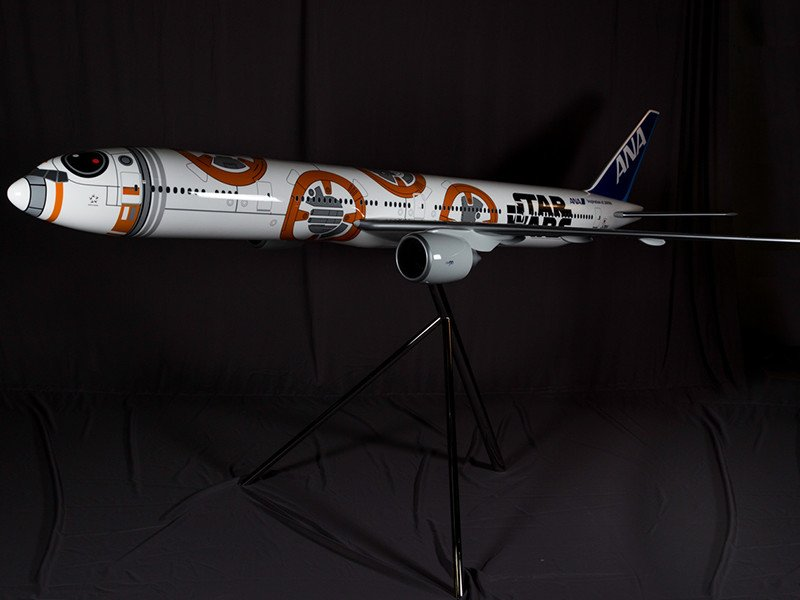1/20 scale PacMin All Nippon Airways 777-300ER in BB-8 inspired livery.