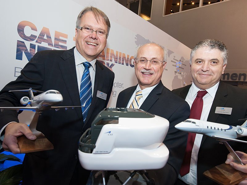 Bombardier announced CAE as their worldwide exclusive Authorized Training Provider for Challenger 350 aircraft with PacMin scale models. / Photo courtesy of Bombardier