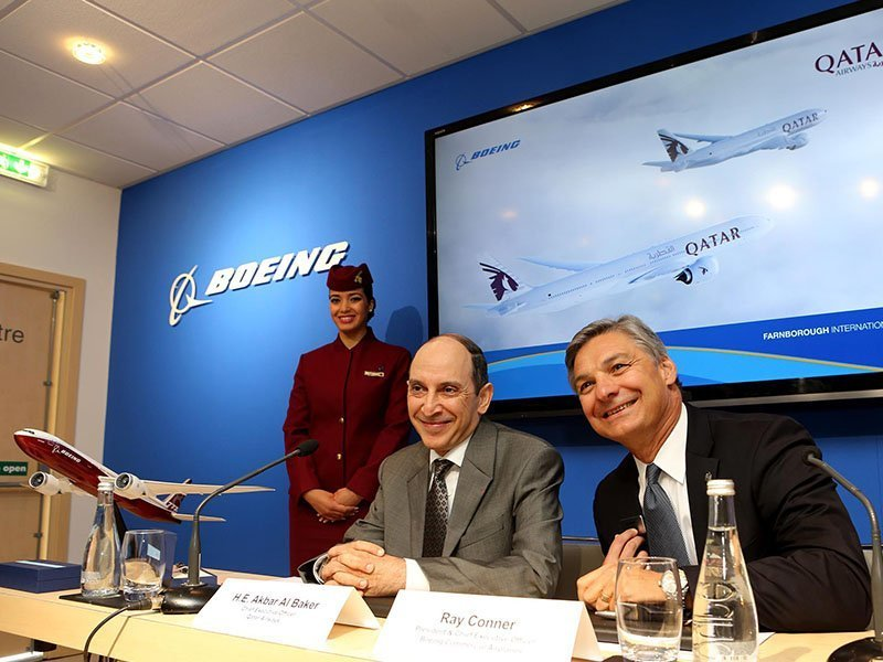 Qatar finalizes 777X order originally announced at the Dubai Airshow. / Photo courtesy of Boeing