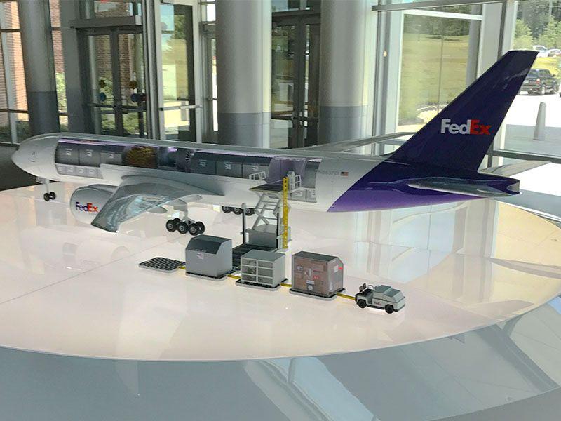 FedEx 1/20 scale 777-200 cutaway model