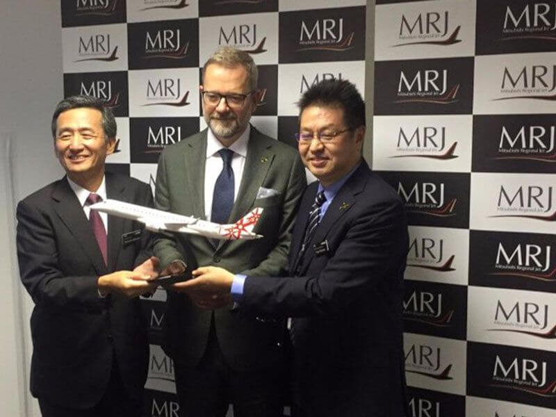 MRJ CEO with desktop model
