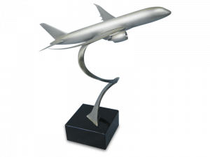 Metal model of a Boeing 787 aircraft