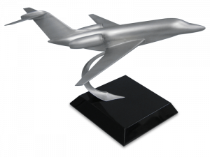 Pewter model of a Columbus aircraft