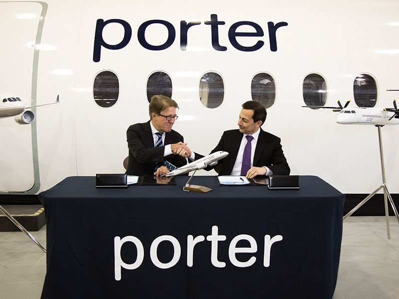 Porter Airlines conditional purchase agreement