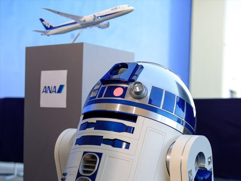 """All Nippon Airways' first Star Wars-themed aircraft is modeled after R2-D2. // Photo courtesy of All Nippon Airways"""