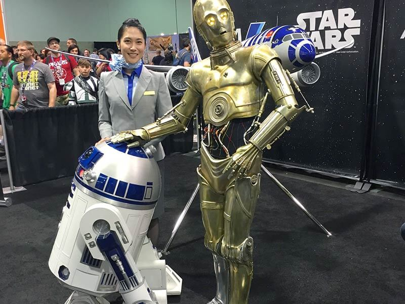 All Nippon Airways unveiled their R2-D2 Jet at the 2015 Star Wars Celebration in Anaheim, CA