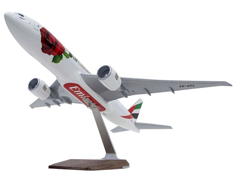 Emirates aviation marketing model showing belly