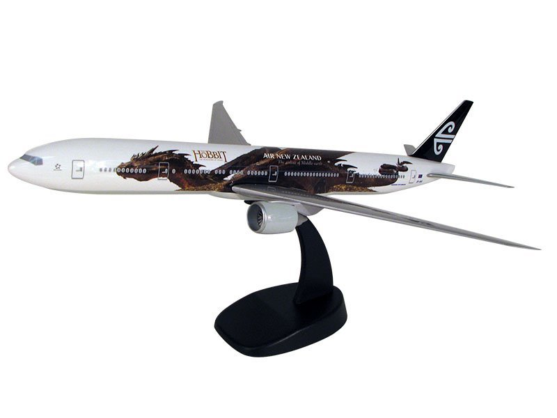 1/200 scale Boeing 777-300ER Air New Zealand desktop model in special Hobbit-inspired livery