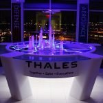 Thales display with purple lighting