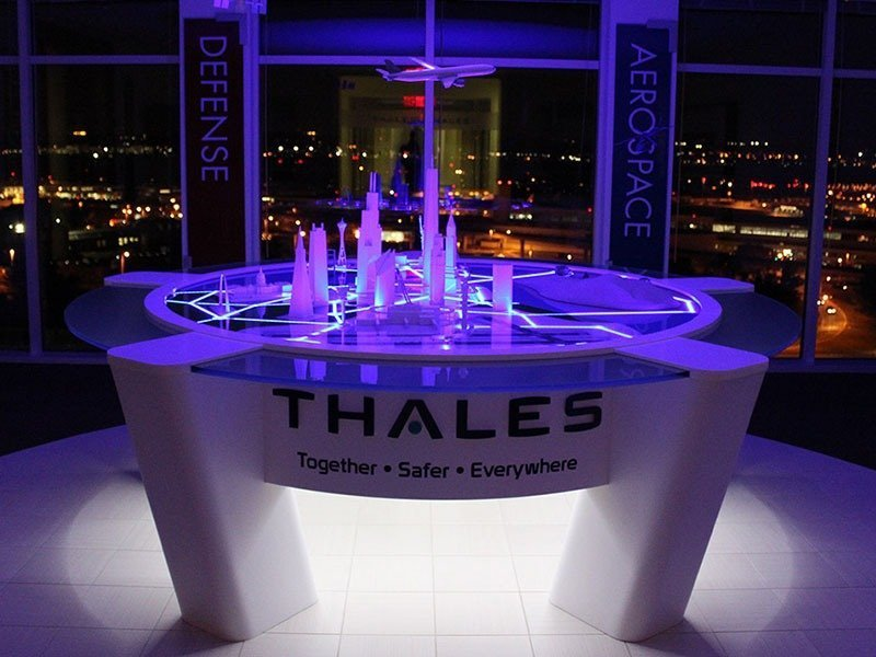 Thales display with purple lighting