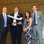 ExecuJet and Gulfstream celebrate aircraft order with PacMin desktop model at EBACE 2015. // Photo courtesy of ExecuJet