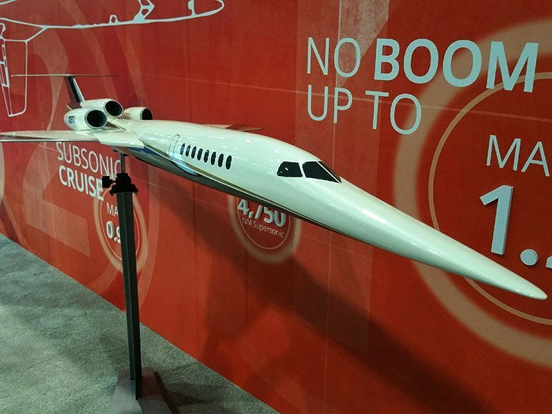 1/20 scale Aerion AS2 supersonic jet in launch customer Flexjet livery