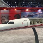 1/6 scale Aerion AS2 supersonic jet cutaway