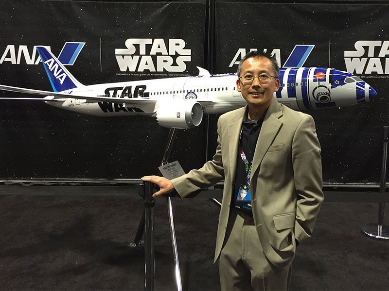 PacMin Director of Operations Will To was at Star Wars Celebration with All Nippon Airways to unveil the 1/20 scale R2-D2 Jet.