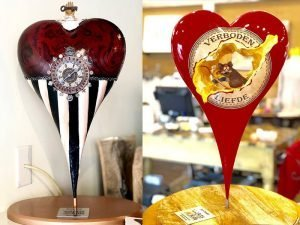 2018 All the Arts Small Heart models