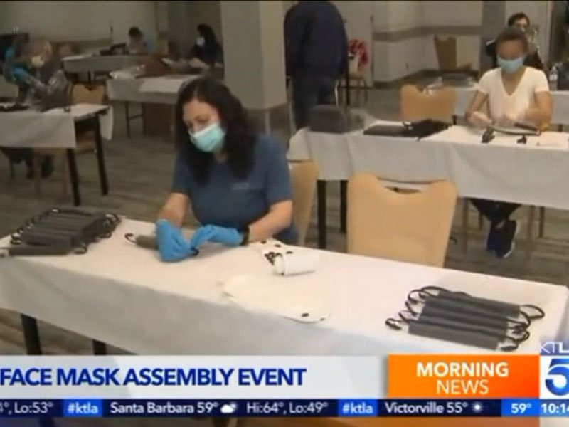 face mask assembly event