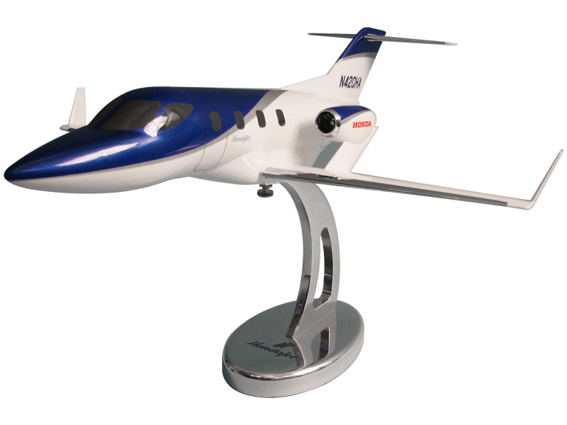 HondaJet aviation marketing model with custom base