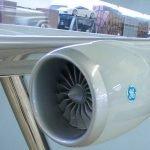 40 747-8F Cargolux Cutaway Engine