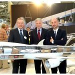 Aviation executives with PacMin Cargolux cutaway