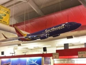 1/8 scale Boeing 737-8 exhibit model (16 feet or 5m long) with hanging attachments