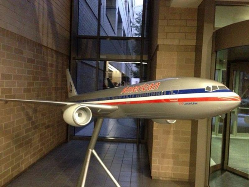 Large scale PacMin 777 American Airlines exhibit model in historic livery. / Photo courtesy of Airchives/Chris Sloan