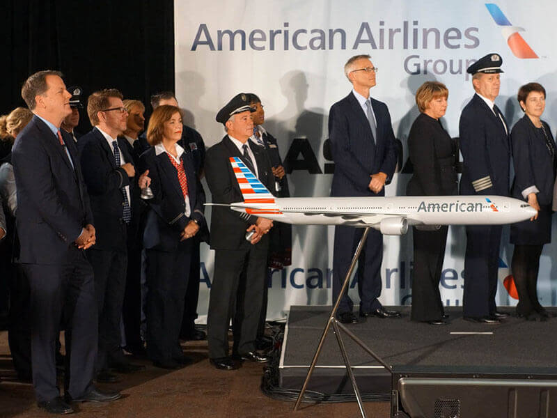 American Airlines and US Airways welcome the new American to the NASDAQ. / Photo courtesy of Airchives/Chris Sloan