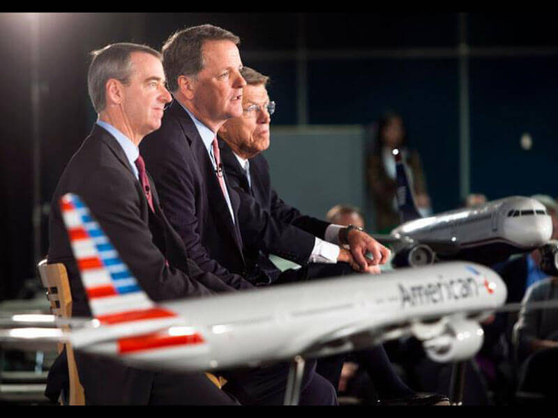 American Airlines and US Airways celebrates the airlines' merger. / Photo courtesy of American Airlines