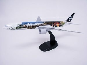 1/200 scale PacMin Air new Zealand 777 model in special livery inspired by The Hobbit: An Unexpected Journey.