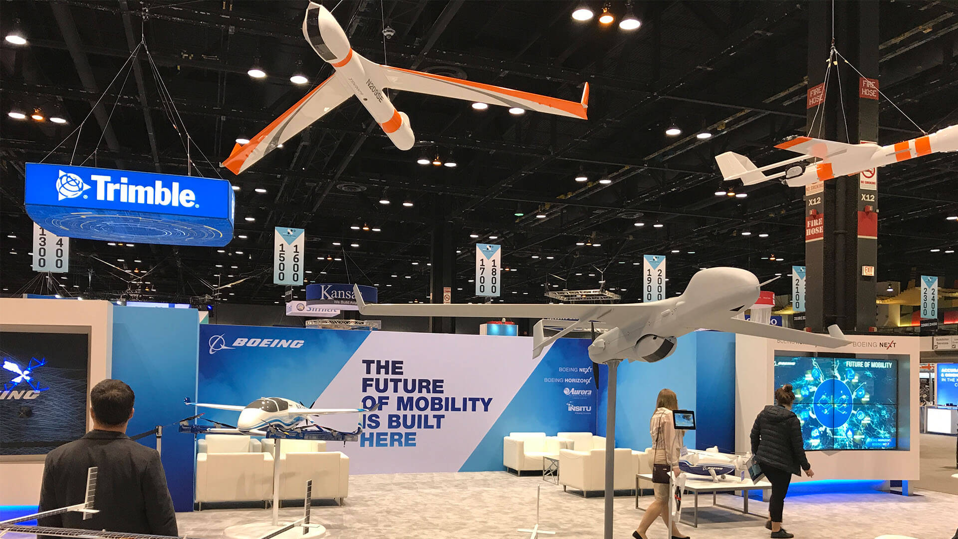 Boeing Booth at AUVSI 2019