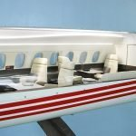 Close-up of the detail on Aerion's 1/6 scale sectional cutaway model