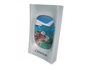 American airlines window frame