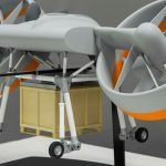 Closeup of ARES box concept drone