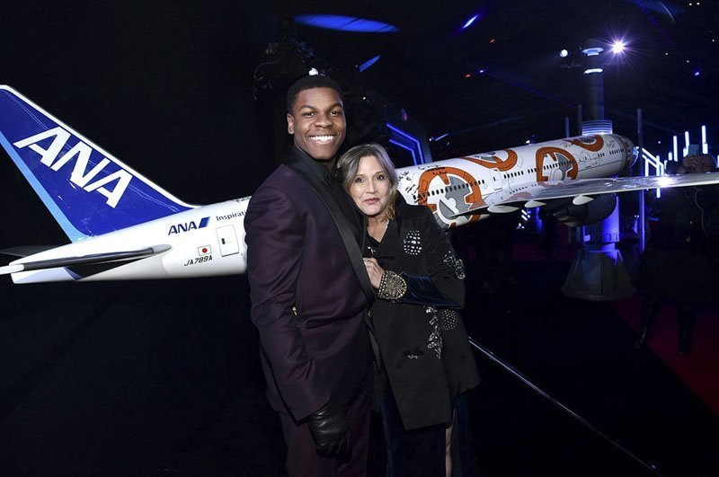 1/20 scale BB-8 ANA Jet at the Hollywood World Premiere of Star Wars: The Force Awakens // Photo courtesy of All Nippon Airways