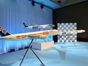 All Nippon Airways announced a Boeing 767-300 and a Boeing 777-300ER will join their Star Wars themed fleet. // Photo courtesy of All Nippon Airways