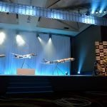 1/20 scale PacMin exhibit models of All Nippon Airways' Star Wars Jets. // Photo courtesy of All Nippon Airways