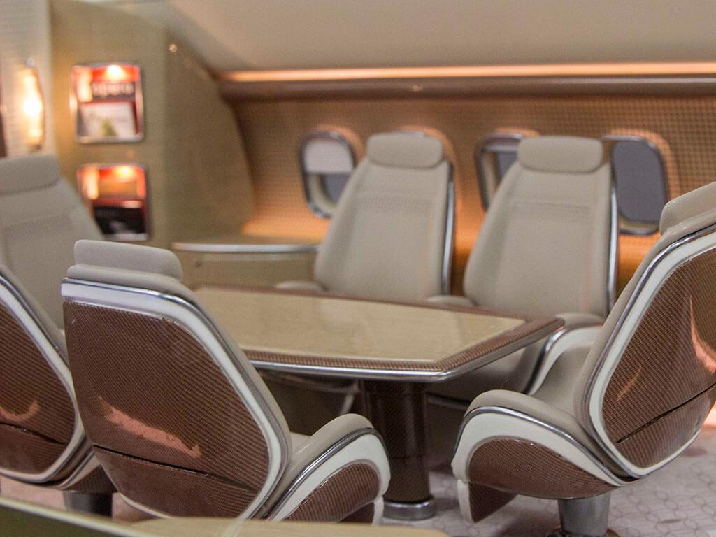 BBJ seats closeup