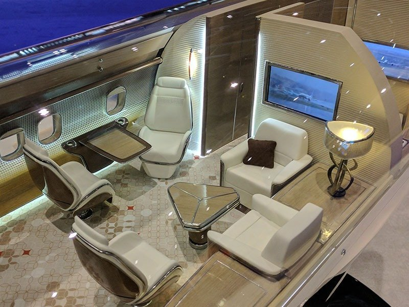 Custom PacMin Cutaway Of BBJ MAX 7 Featured In Business Jet Interiors