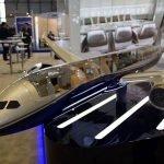 BBJ Cutaway aviation model at EBACE