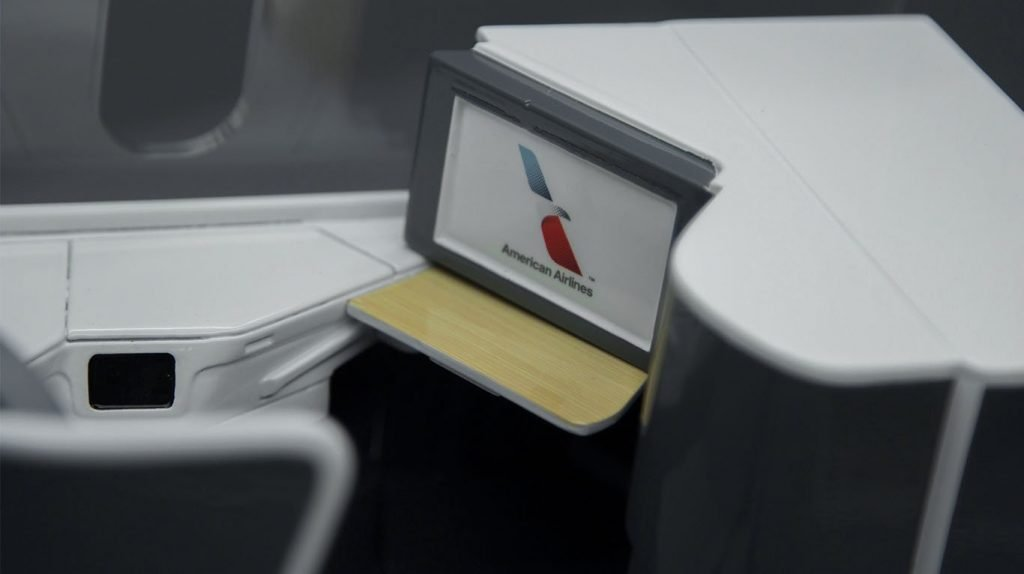 Close up of seat model