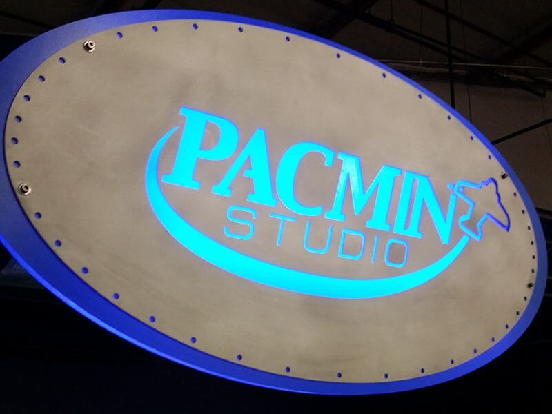 PacMin Studio booth sign