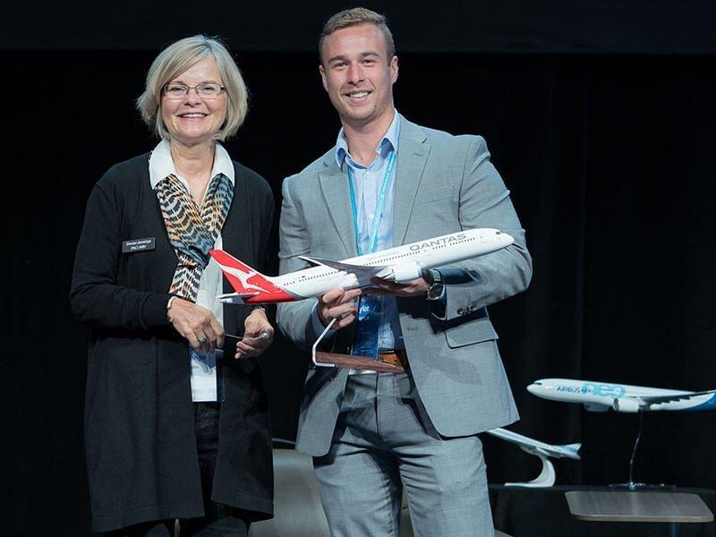 Winner of large PacMin desktop model in Qantas livery