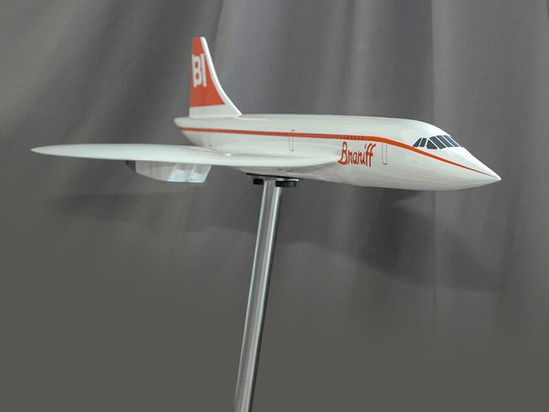 Braniff Concorde exhibit model