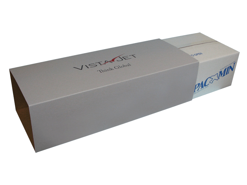 Business Class Packaging with upgraded branded box sleeves